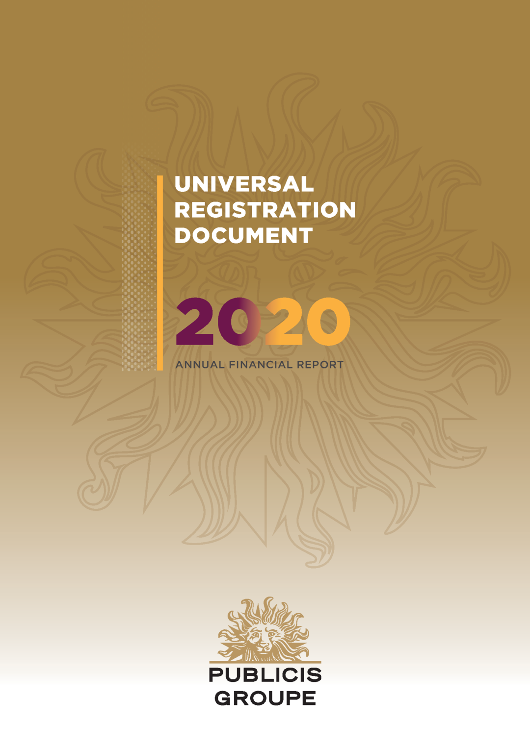 """Cover - """"2020 Annual Financial Report"""""""
