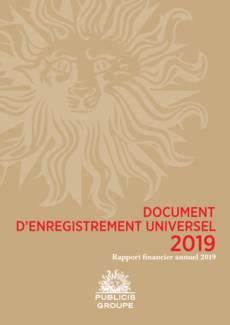 """Couverture - """"Rapport financier annuel 2019"""""""